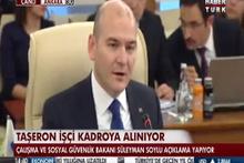 Süleyman Soylu: Taşeron işçiler kanunu iki hafta içinde Meclis'te