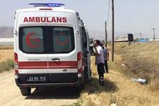Elazığ'da korkunç kaza tren minibüse çarptı!