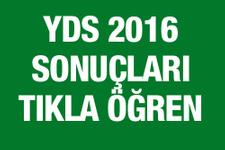 2016 YDS sonuç ÖSYM sorgu ekranı