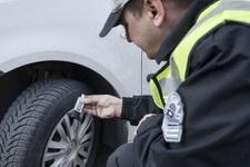 Kış lastiği takmayan araç sahiplerine 625 lira ceza!