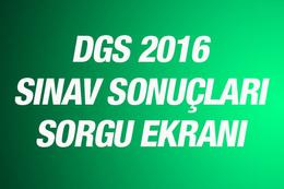 DGS sınav sonuçları 2016 ön lisans mezunları