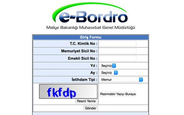 e-Bordro Ocak 2019 maaş sorgulama-Maliye Bakanlığı TC ile giriş