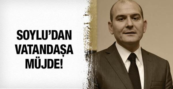 Süleyman Soylu'dan vatandaşlara müjde!