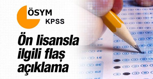 KPSS 2016 ön lisans/ortaöğretim ÖSYM'den açıklama