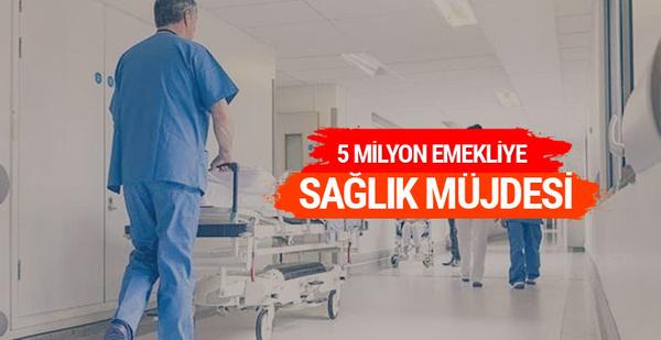 5 milyon Bağkur emeklisine sağlık müjdesi