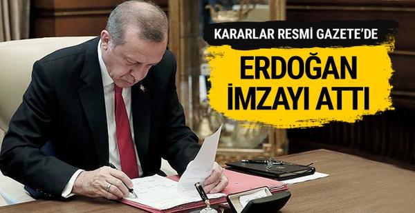 Erdoğan imzaladı! Büyükelçi atamaları Resmi Gazete'de