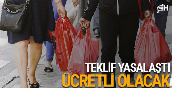 Plastik alışveriş poşetleri ücretli olacak
