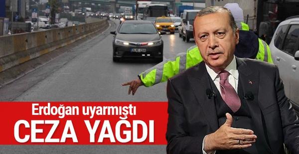 Erdoğan da uyarmıştı çakarlı araçlarla ilgili son durum
