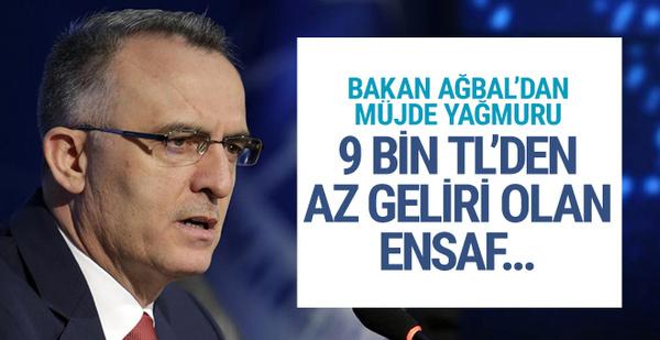 Bakan Ağbal'dan müjde yağmuru! 9 bin TL'den az geliri olan esnaf...
