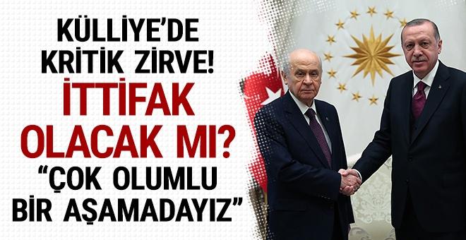 Erdoğan ve Devlet Bahçeli görüşmesinde ittifak olunacak mı?