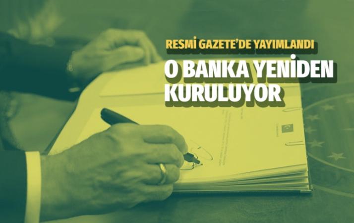 Emlak Bankası yeniden kuruluyor Resmi Gazete'de yayımlandı