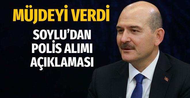 Polis alımında İçişleri Bakanı Süleyman Soylu yeni sayıyı açıkladı