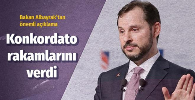 Hazine ve Maliye Bakanı Berat Albayrak'tan konkordato açıklaması