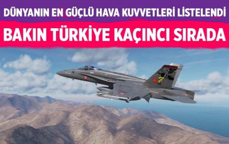Dünyanın en güçlü hava kuvvetleri listesi açıklandı! Bakın Türkiye kaçıncı sırada
