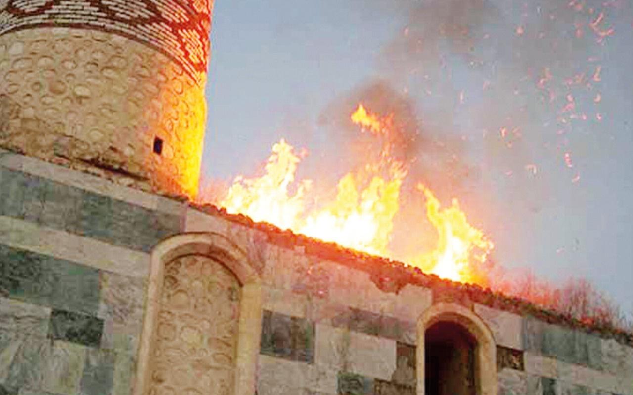Azerbaycan'daki dini liderlerden Ermenistan'ın tahribatlarına ilişkin ortak bildiri