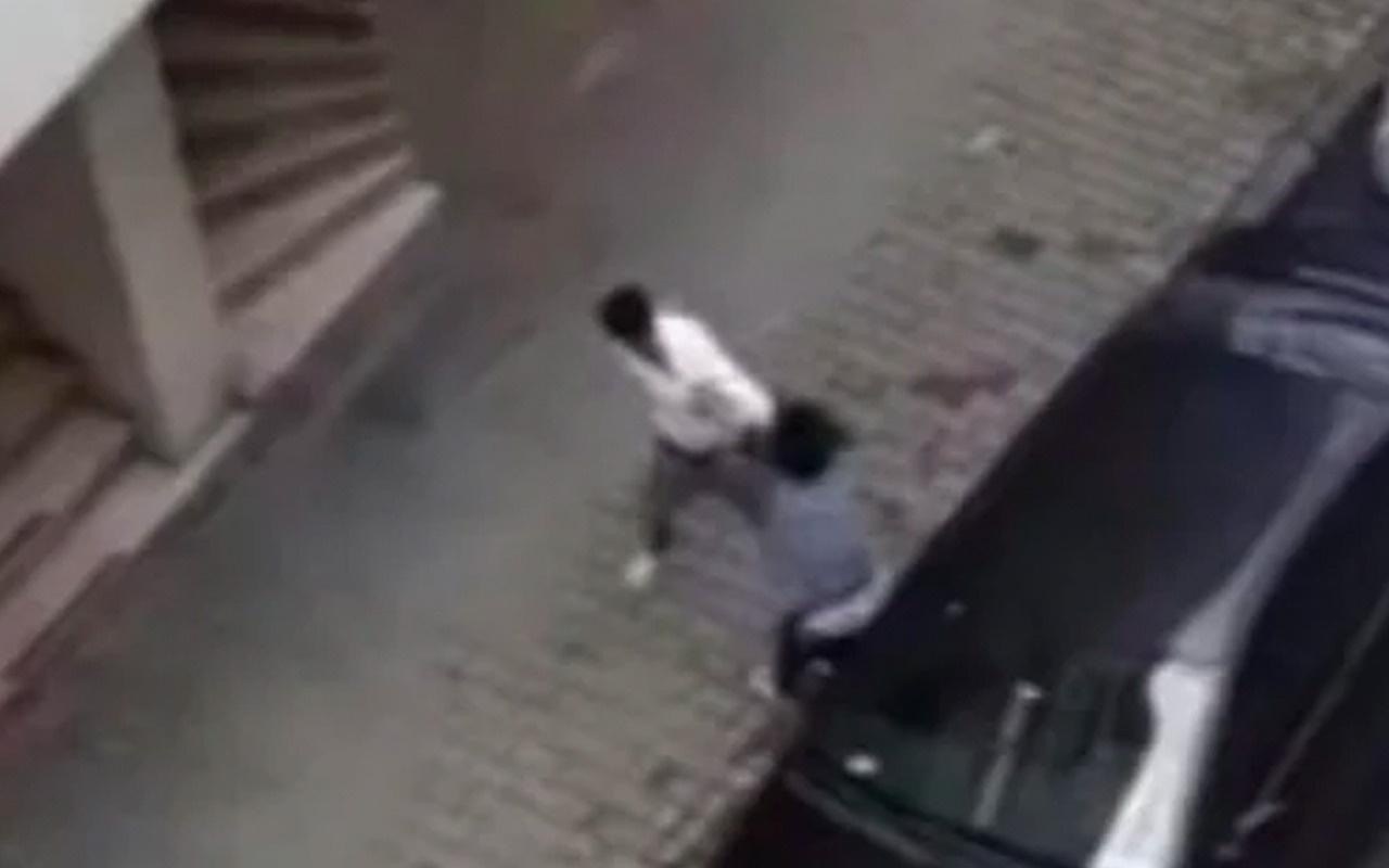 Hamile eşini sokak ortasında tekme tokat dövdü! Kameralar saniye saniye böyle kaydetti