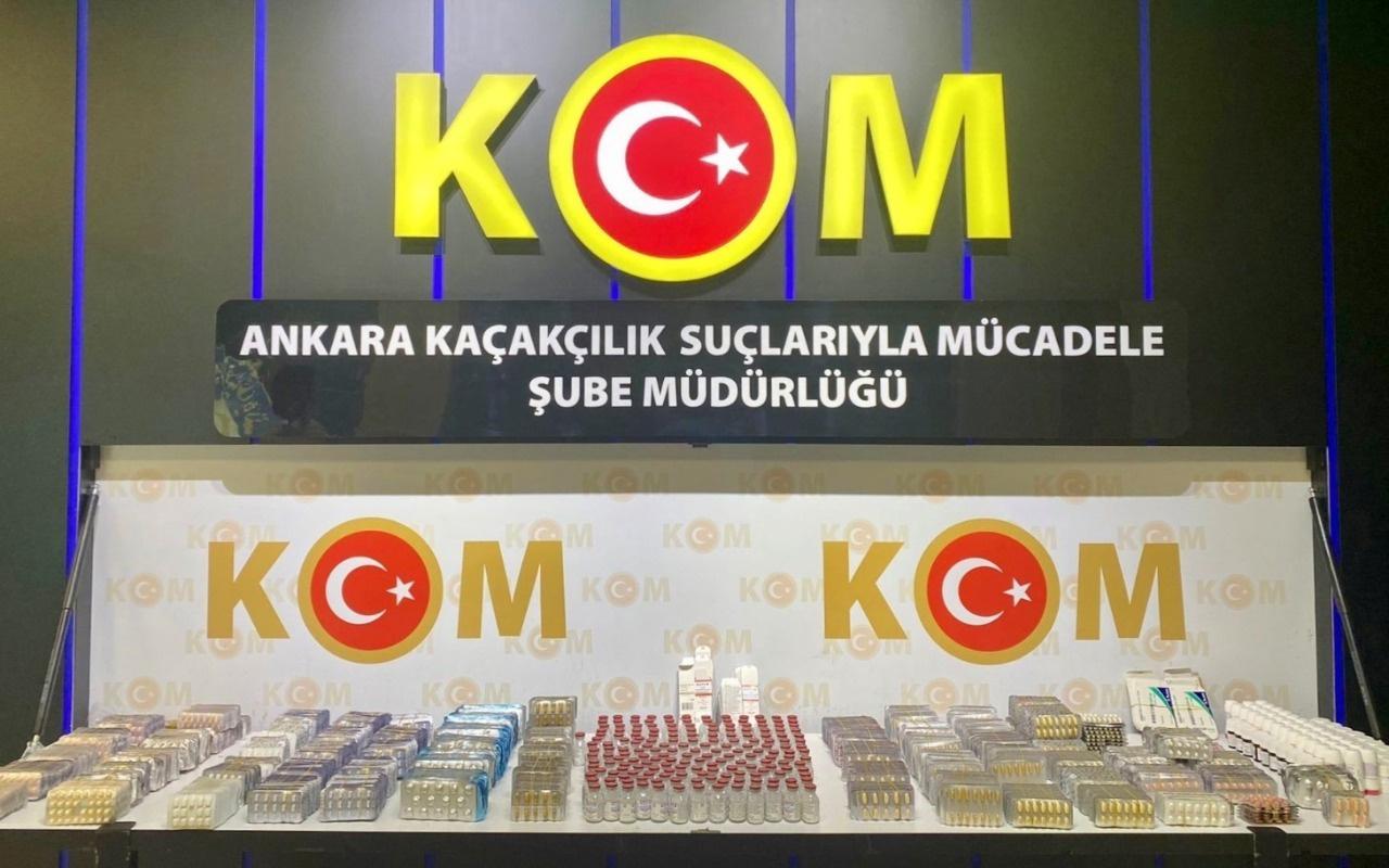 Başkentte yabancı uyruklu bir şahsın üzerinden 31 bin 770 adet tıbbi ilaç bulundu