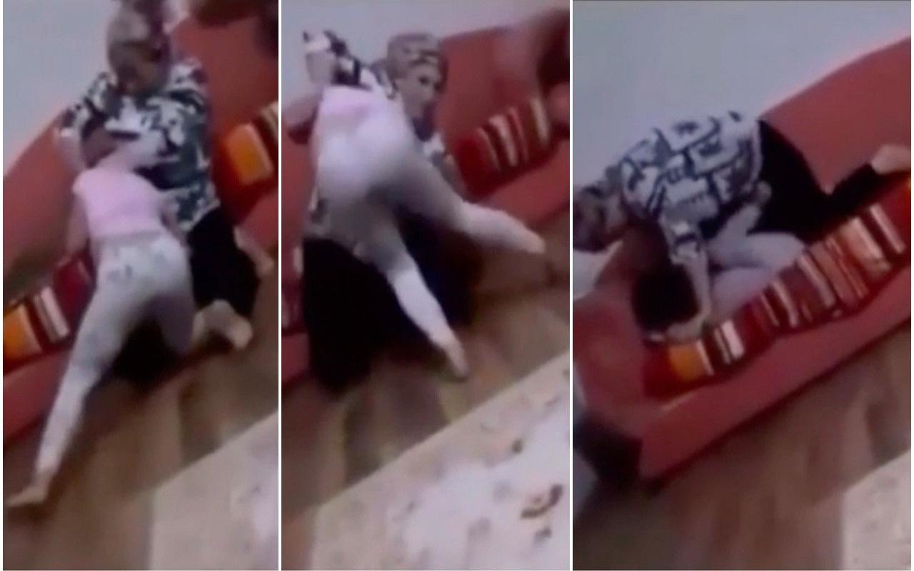 Cani anne 8 yaşındaki kızını nefessiz kalana kadar böyle boğmaya çalıştı!