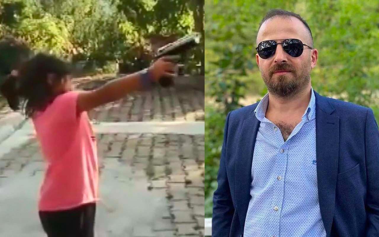 8 yaşındaki yeğenine zorla silah verip ateş ettirdi! Yetmedi hakaretler yağdırdı