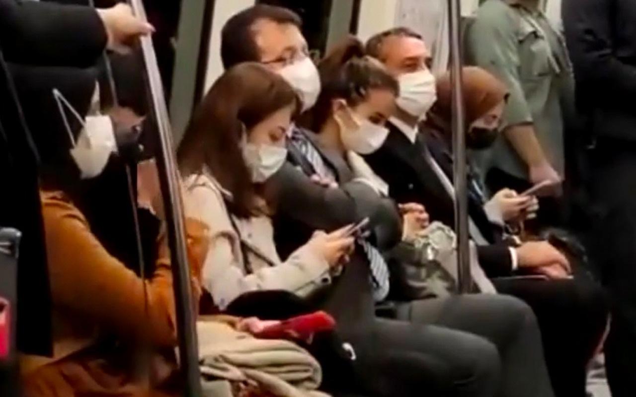 Ekrem İmamoğlu metroyla Taksim'e gitti vatandaşlarla böyle sohbet etti!