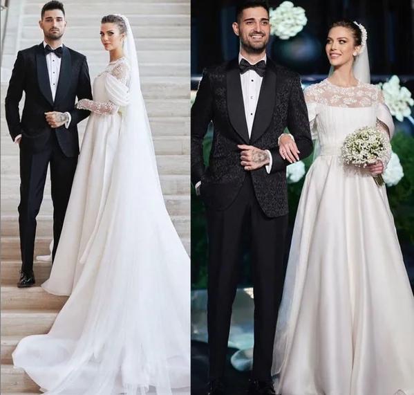 İdo Tatlıses Yasemin Şefkatli evlendi! Gelinlik sosyal medyada çok konuşuldu! İşte düğünden fotoğraflar